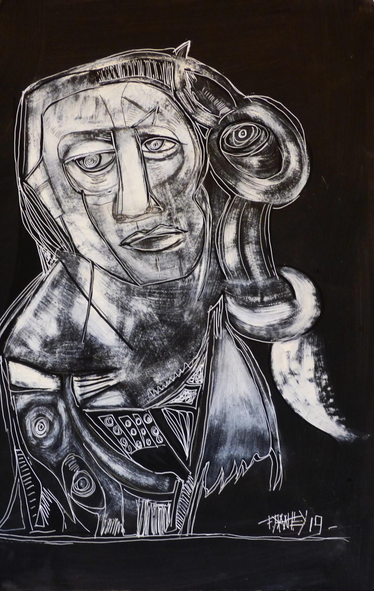 """Frédérique Manley - """"Portrait 2019, Janvier"""""""